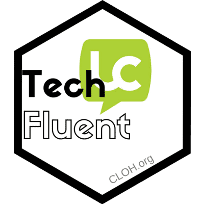 Tech Fluent badge, clipped