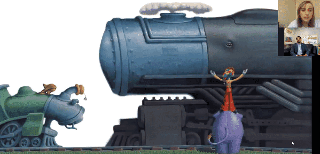 Little Engine That Could -- story time screen grab.