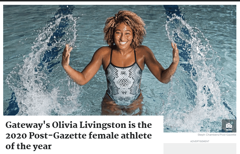 Olivia, from Gateway, P-G athlete of the year
