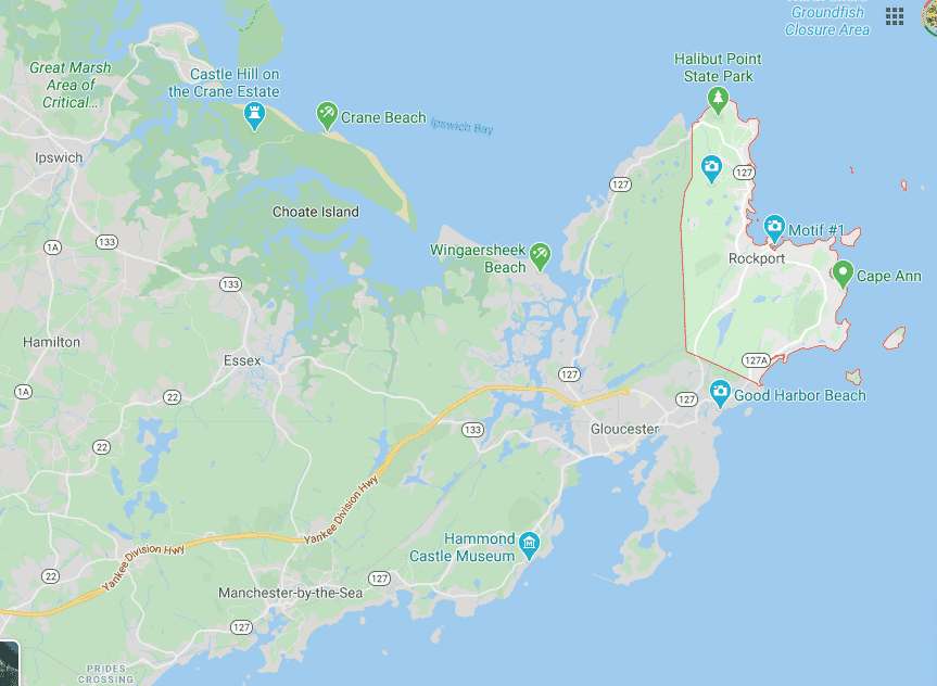 Rockport, MA - map view