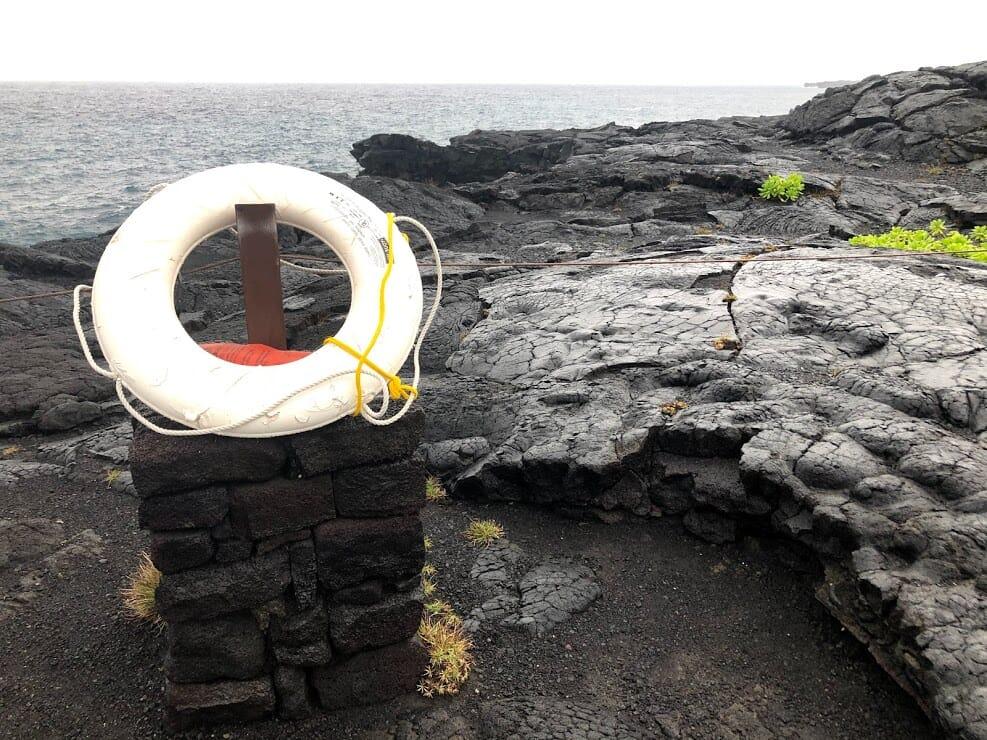 Ring on lava