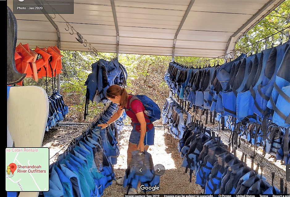 picking out a life jacket
