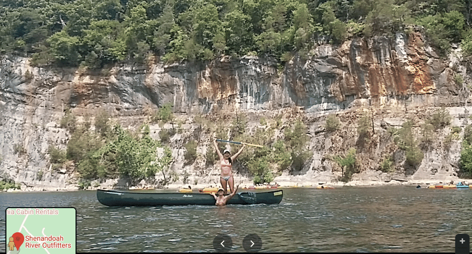 Canoe, victory stance